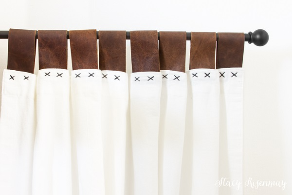 Tutorial: Leather tab curtains