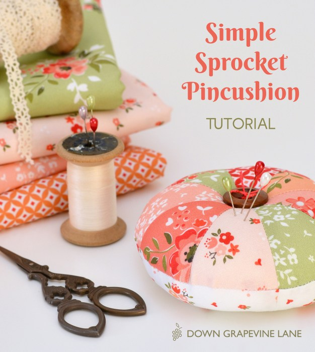 Sewing tutorial: Sprocket pincushion