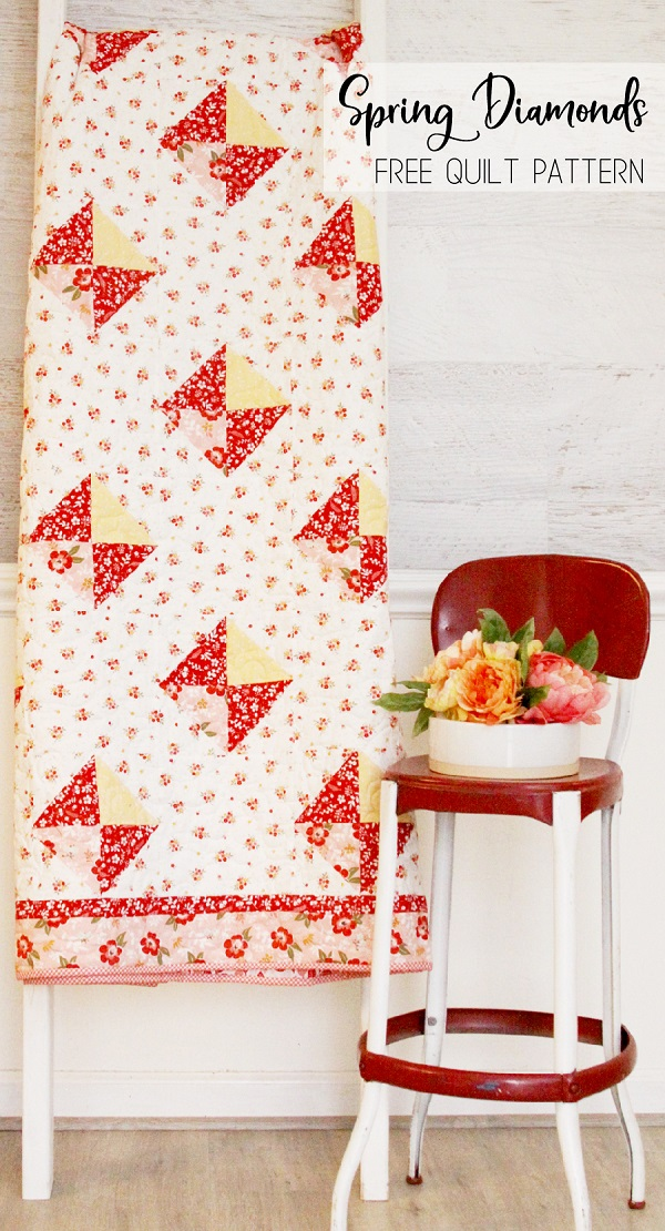 Sewing tutorial: Spring Diamonds quilt