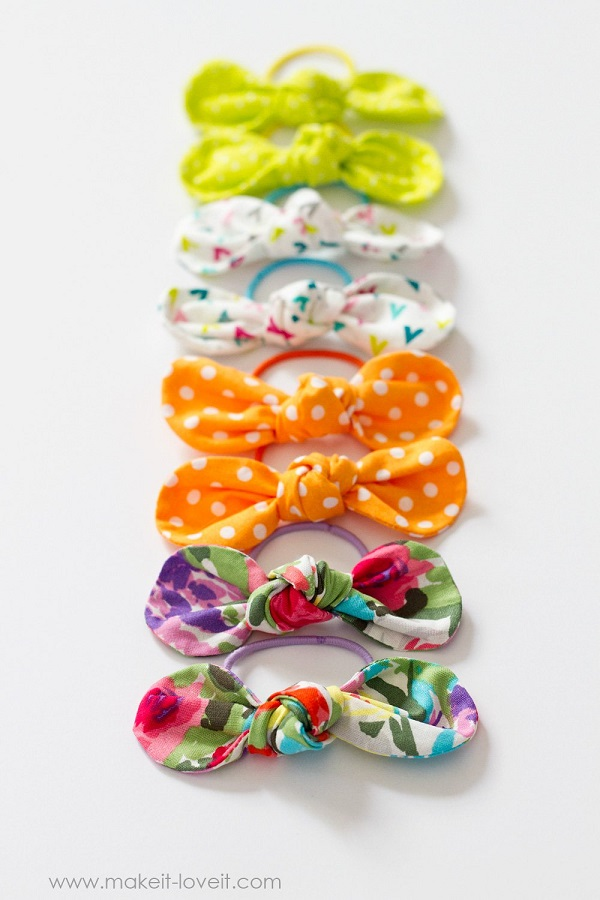 Sewing tutorial: Fabric knot hairbows