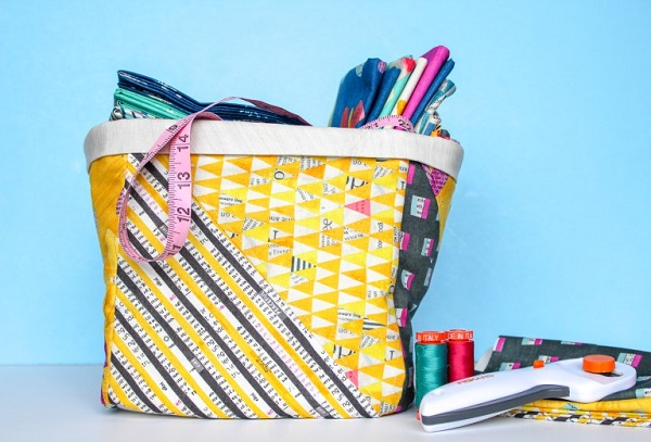 Sewing tutorial: Fabric storage bins