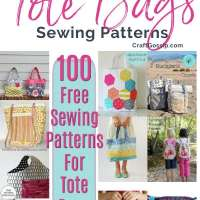 100 free sewing patterns for Tote Bags