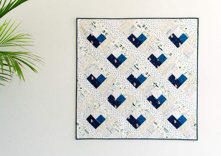 Tutorial: Log cabin heart baby quilt