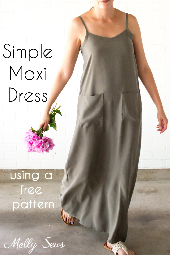 Sewing tutorial: Summer maxi dress