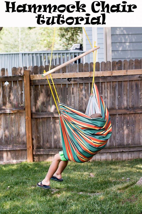 Sewing tutorial: Canvas fabric hammock chair