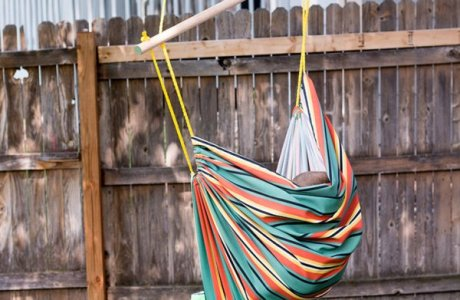 Sewing tutorial: Canvas fabric hammock chair