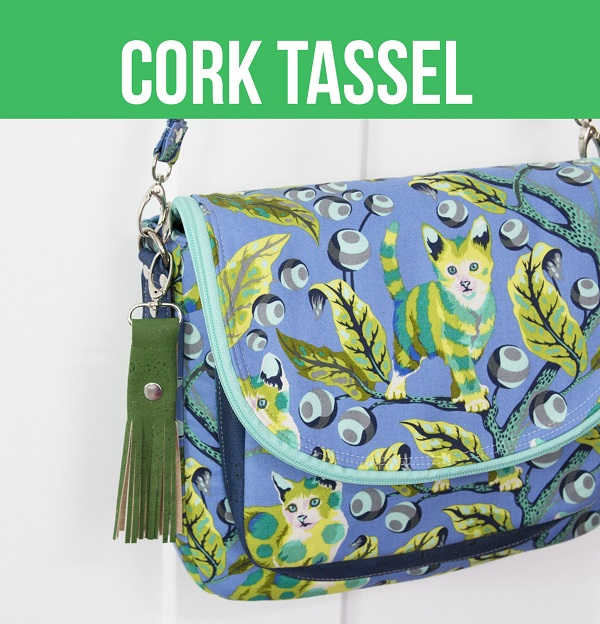 Video sewing tutorial: Cork tassel, with free pattern