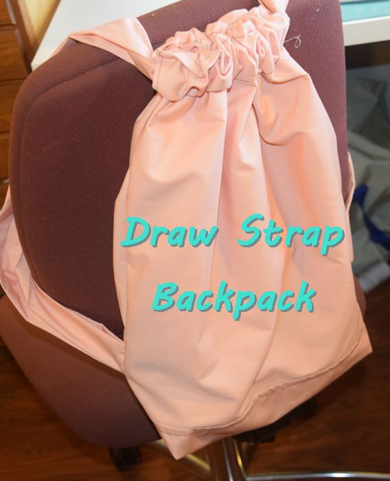 Sewing tutorial: Draw strap backpack