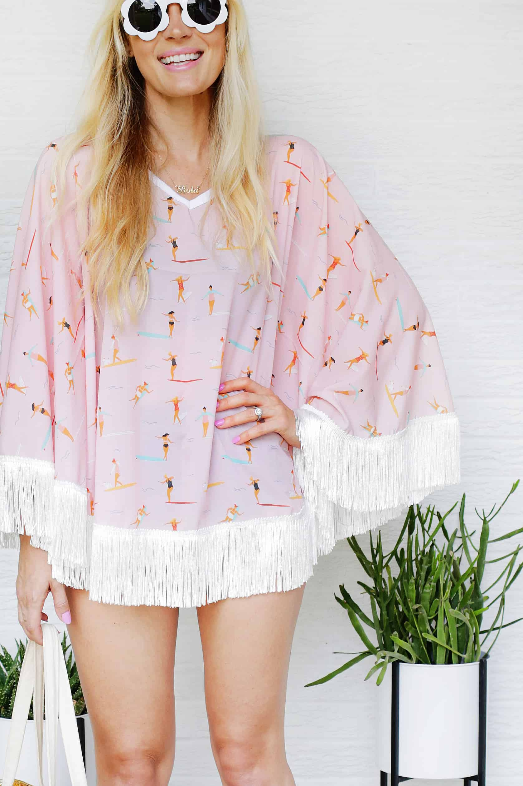 Sewing tutorial: Fring circle swim cover-up