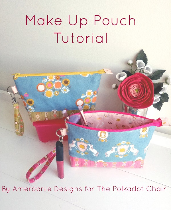 Sewing tutorial: Zipper cosmetic bag with vinyl lining