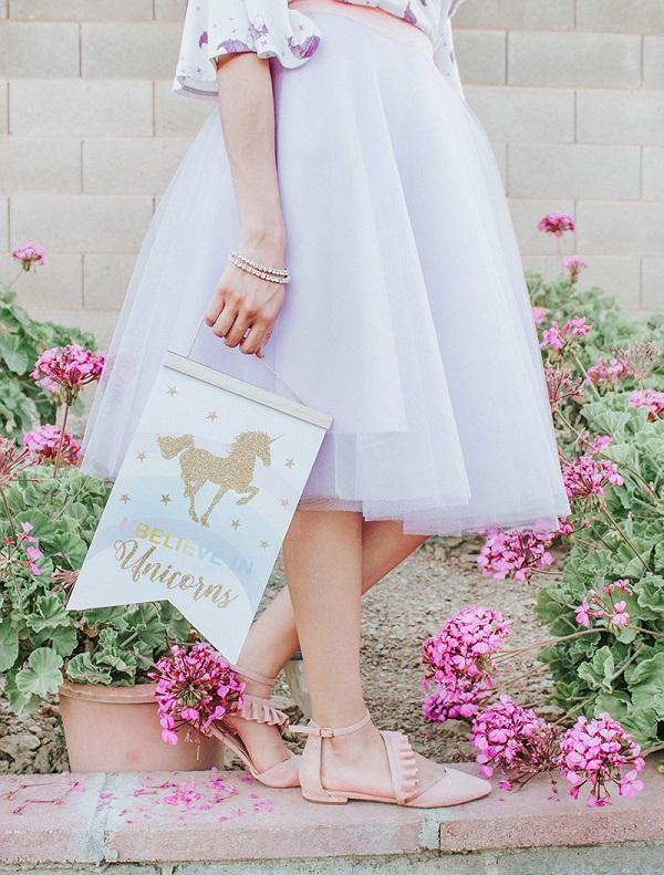 Sewing tutorial: Tulle circle skirt