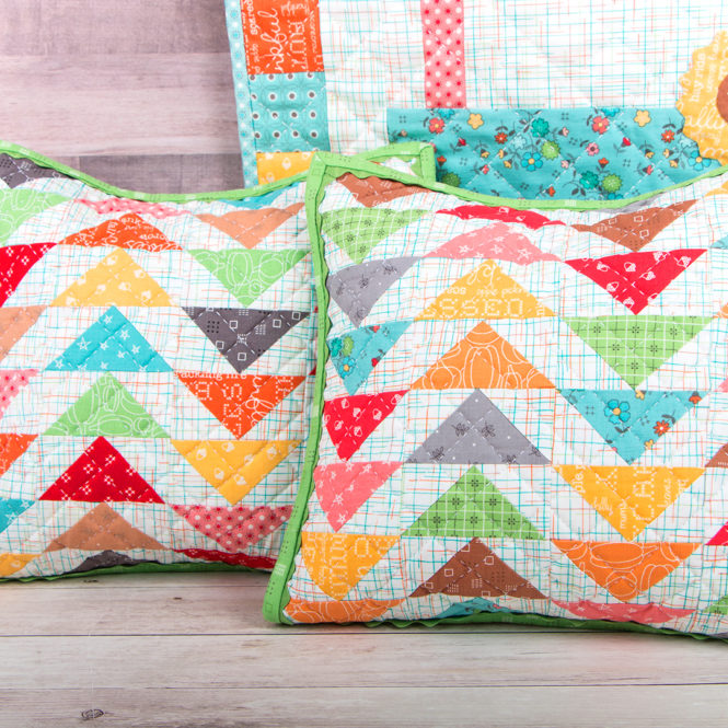 Sewing tutorial: Flying geese quilted pillow