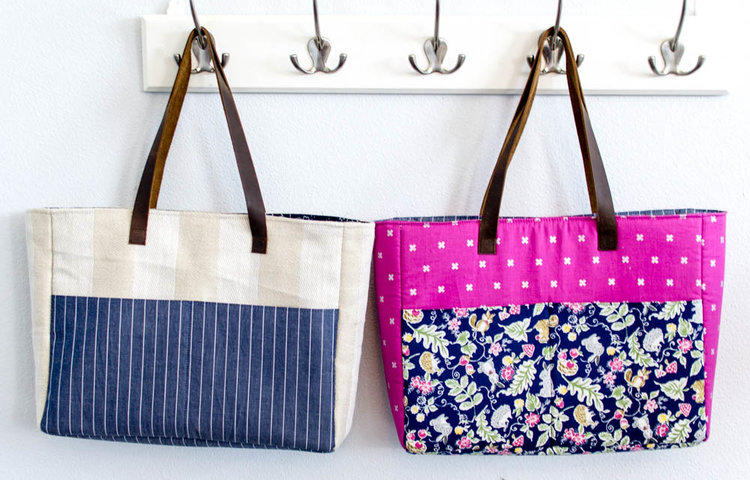 Sewing tutorial: Easy tote with large pockets