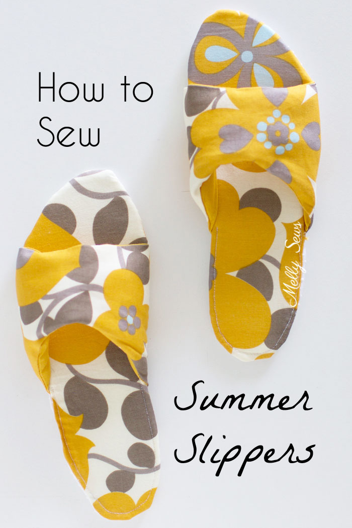 Sewing tutorial: Sew your own summer slippers – Sewing