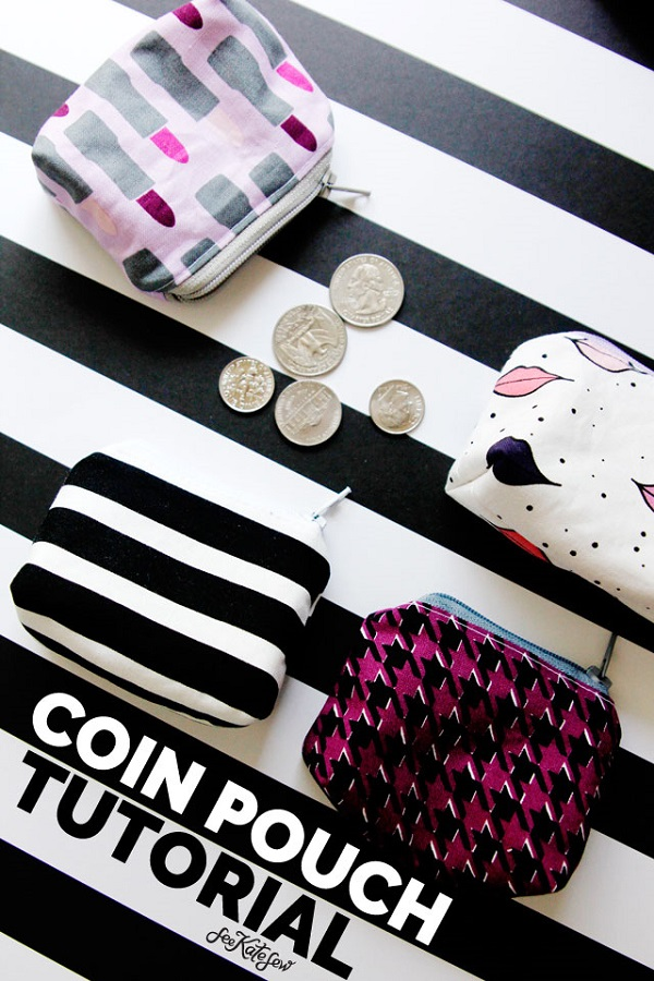 Sewing tutorial: Little zip coin pouch