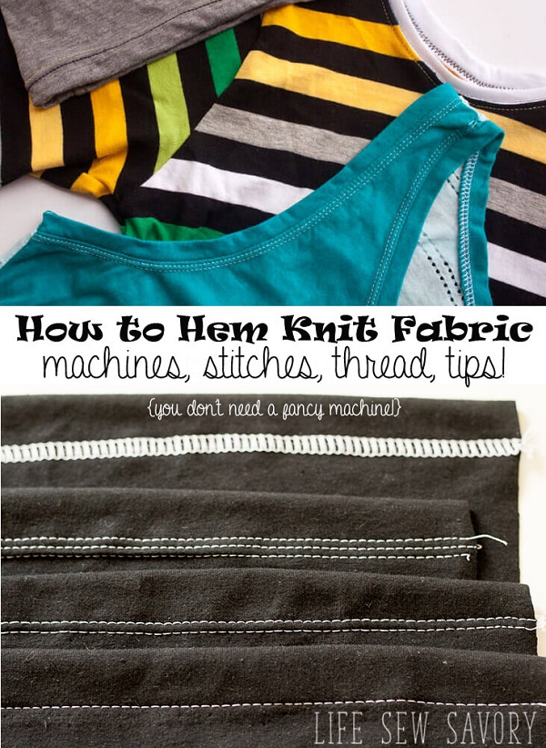 Sewing tutorial: Hemming stretch fabrics