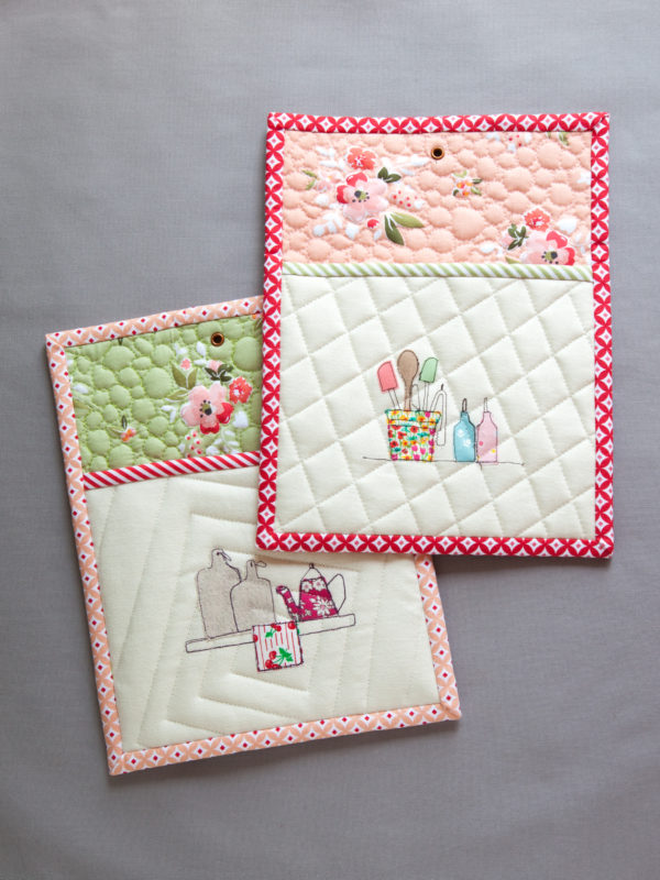 Sewing tutorial: Kitchen applique potholders