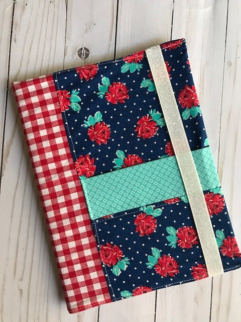 Sewing tutorial: Journal cover with front pocket
