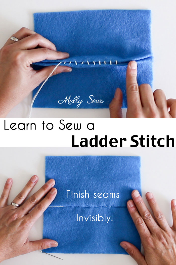 Sewing tutorial: Invisible ladder stitch