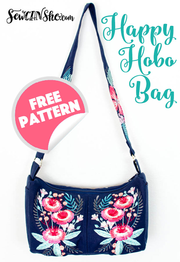 Free sewing pattern: Happy Hobo bag