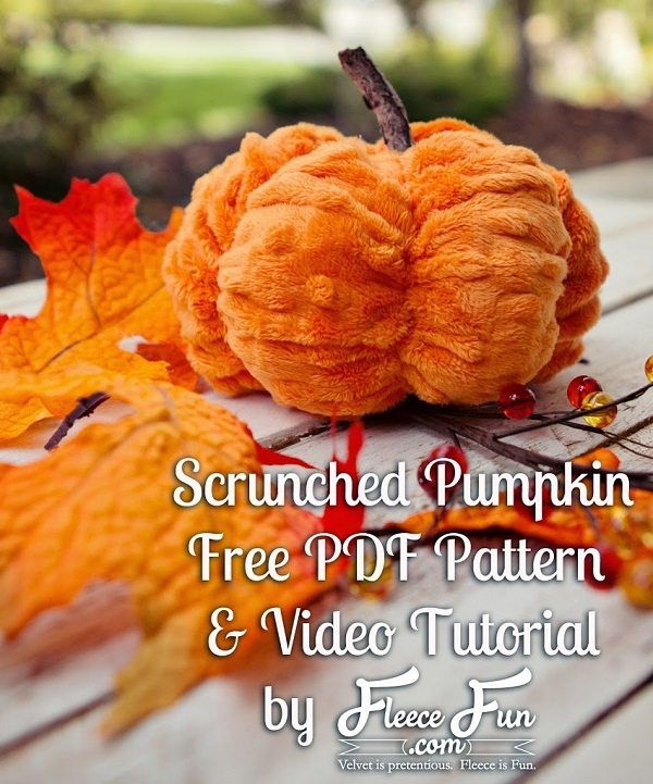 Sewing tutorial: Easy Minky Pumpkin