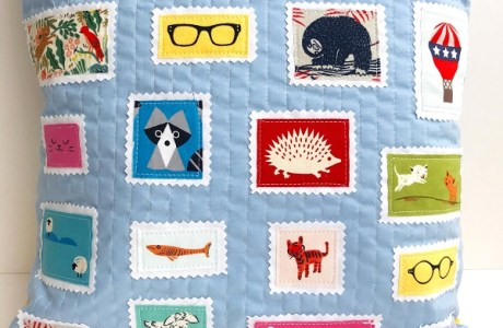 Sewing tutorial: Postage stamp pillow