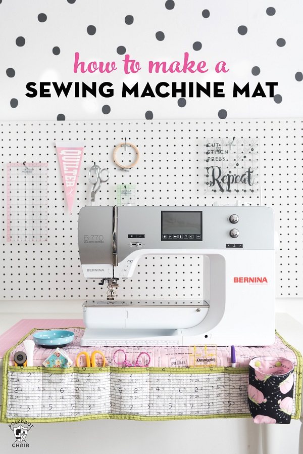 Sewing tutorial: Sewing machine mat and organizer