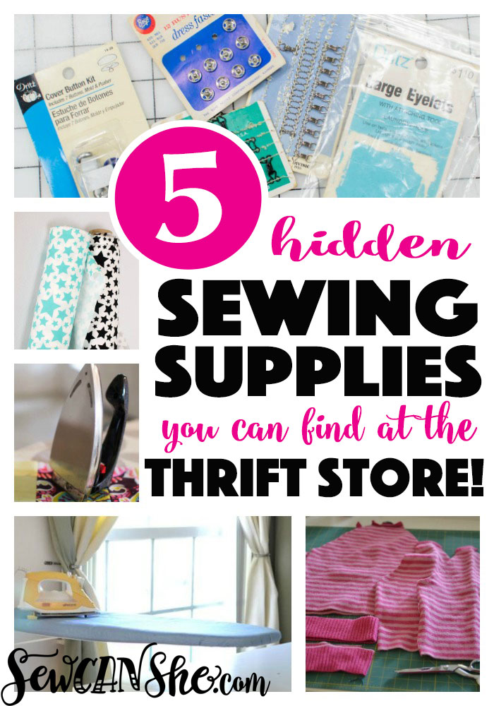 Thrift store sewing supplies that will save you money