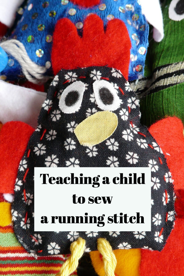 Tutorial: Teaching a child basic hand sewing skills