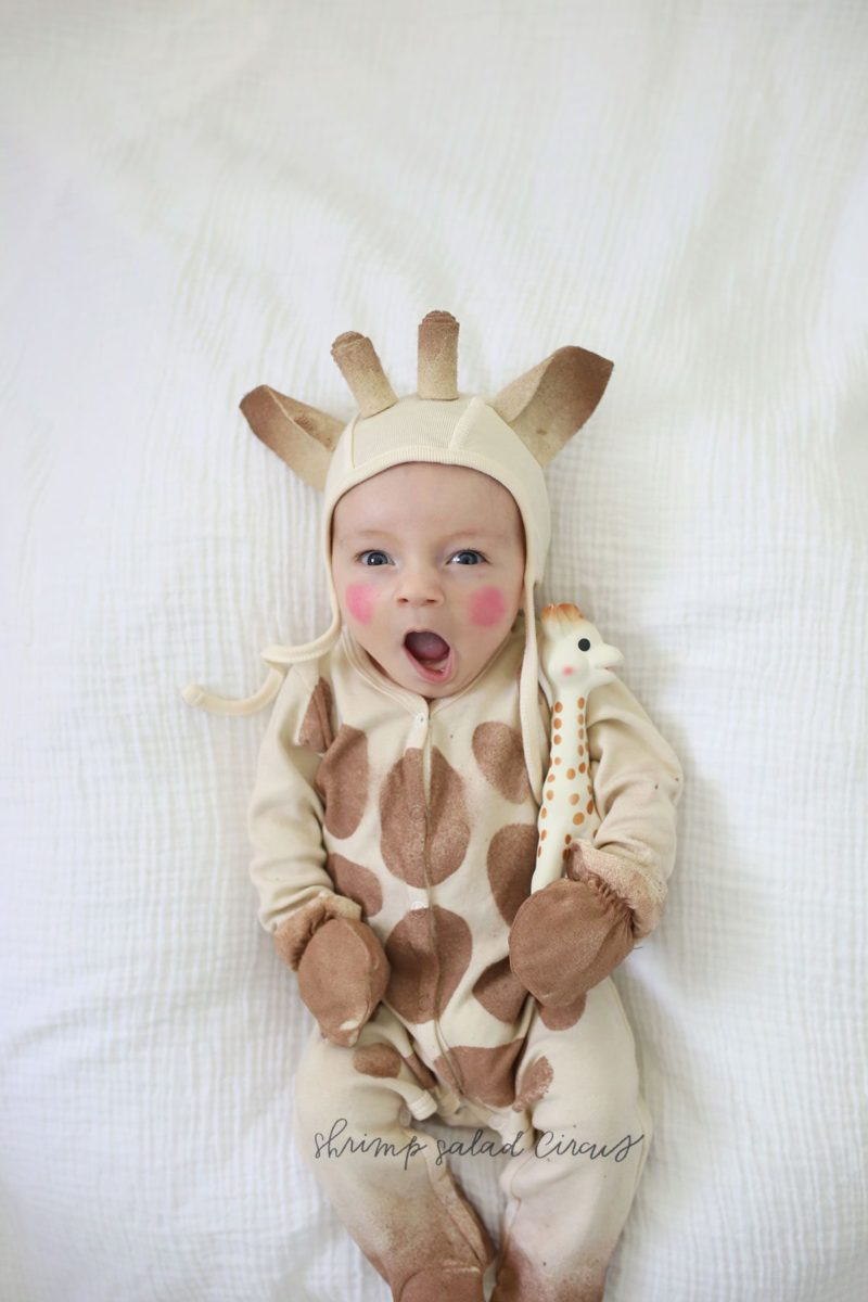 Sewing tutorial: Sophie the Giraffe baby costume