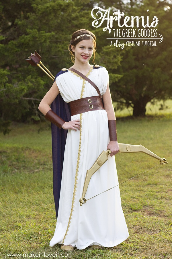 Sewing tutorial: Greek goddess Halloween costume