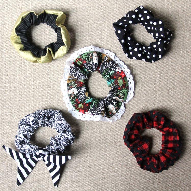 Sewing tutorial: 5 ways to make a scrunchie