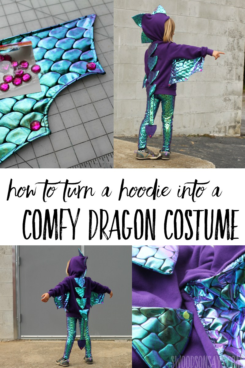 Sewing tutorial: Dragon costume from a hoodie