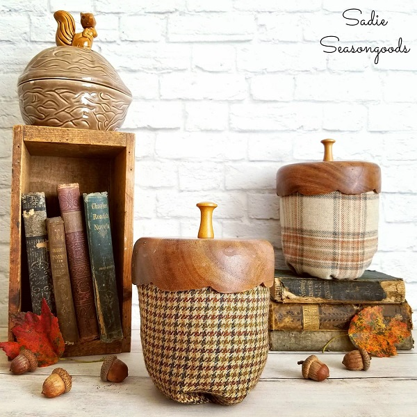 Sewing tutorial: Tweed acorn decor