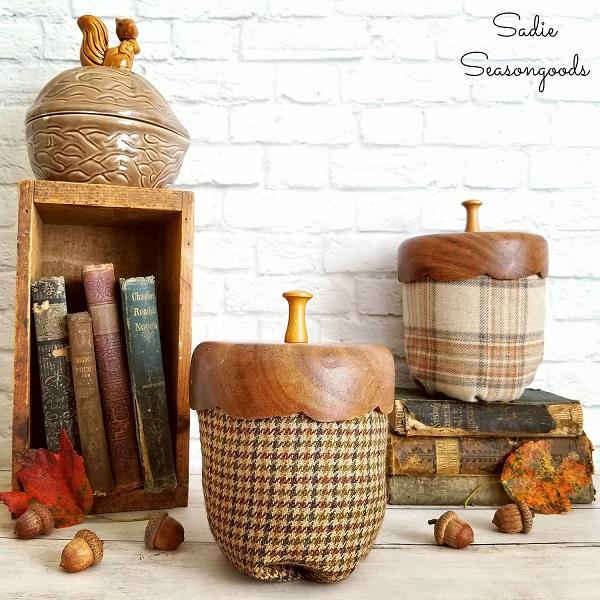 Sewing tutorial: Tweed acorn decor