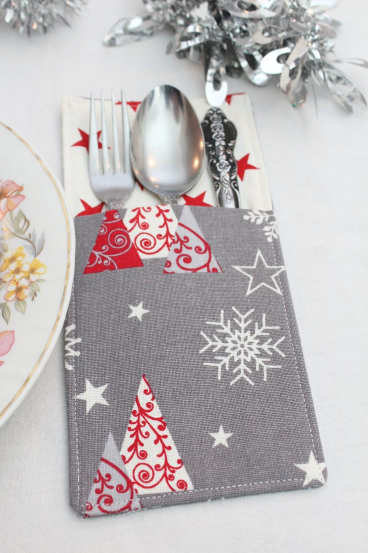 Sewing tutorial: Fabric cutlery holder