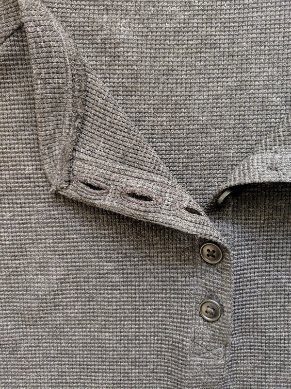 Sewing tutorial: Henley button placket