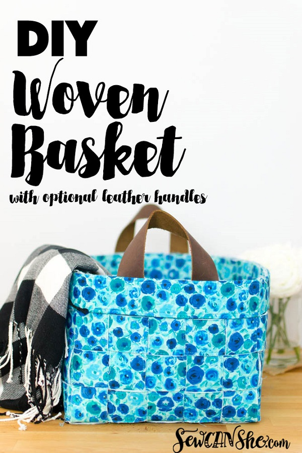 Sewing tutorial: Woven fabric basket