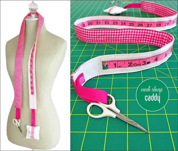 Sewing tutorial: Measuring tape neck strap caddy
