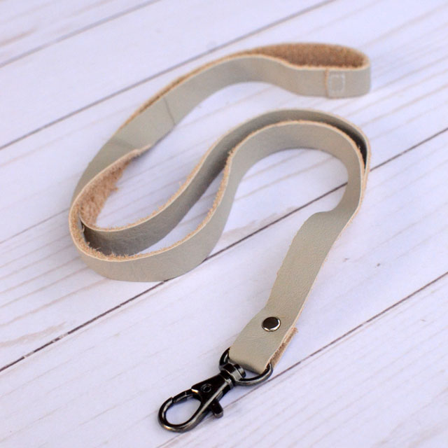Tutorial: No-sew leather lanyard