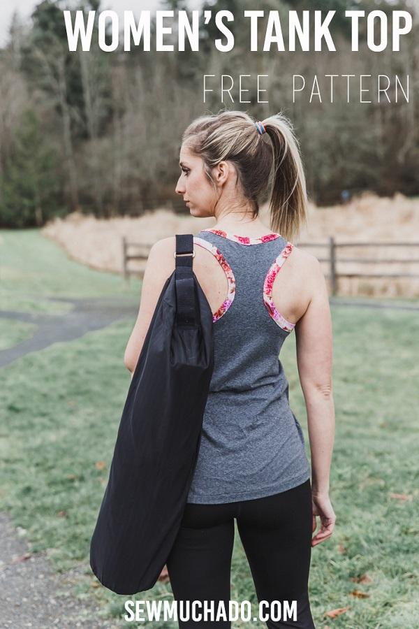 Free sewing pattern: Women's tank top