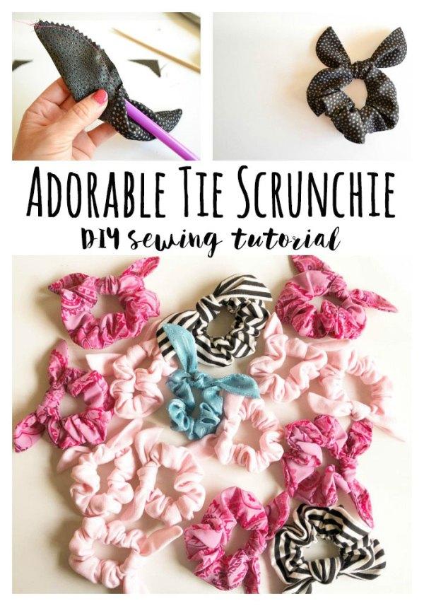 Sewing tutorial: Tie scrunchie