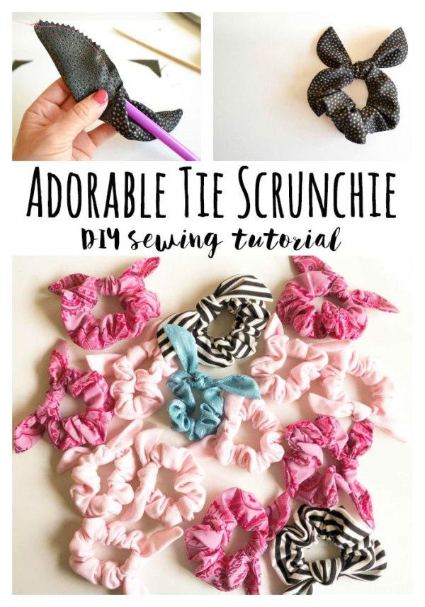 Sewing tutorial: Tie scrunchie
