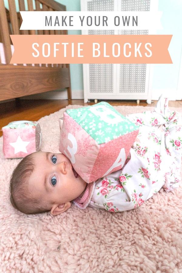 Sewing tutorial: Soft fabric baby blocks