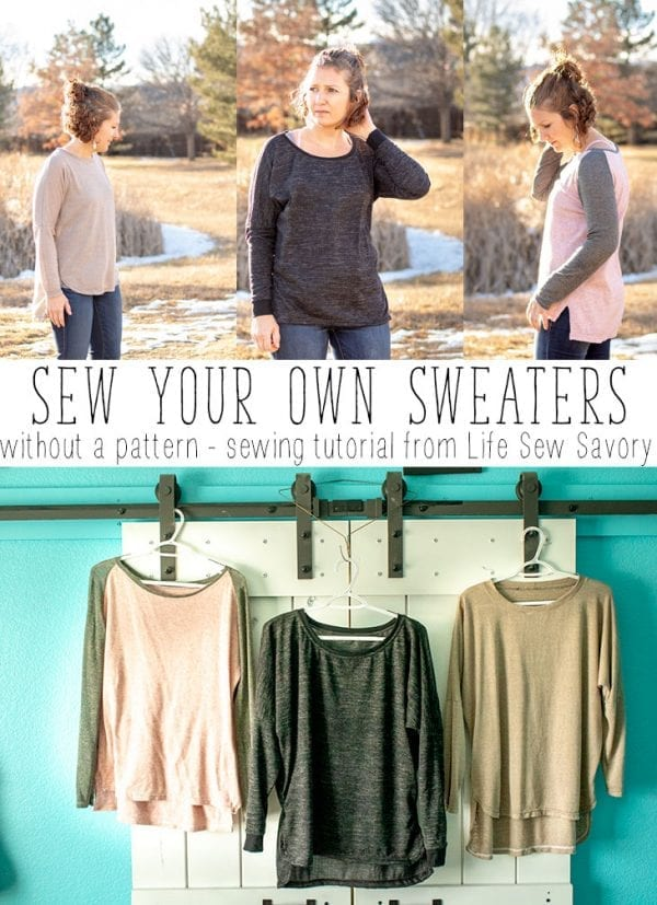 Sewing tutorial: How to sew a sweater, no pattern needed