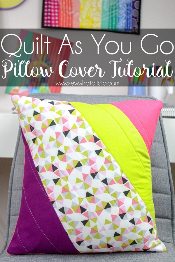 Sewing tutorial: Scrap friendly quilted pillow cover
