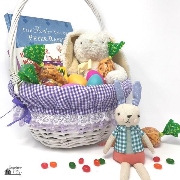 Sewing tutorial: Fabric Easter basket liner