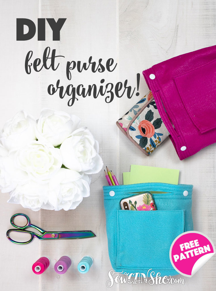 Sewing tutorial: Handy purse organizer with snaps