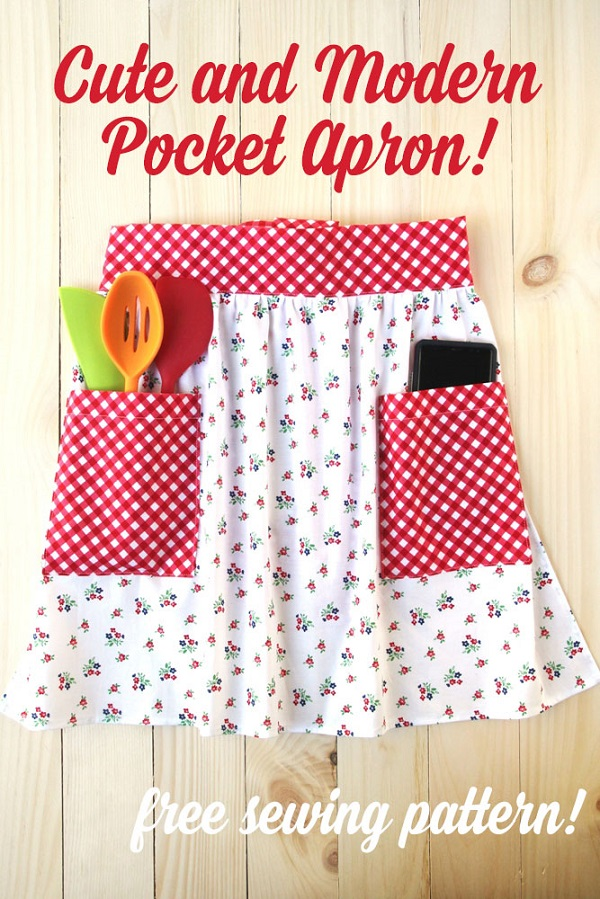 Sewing tutorial: Easy pocket apron