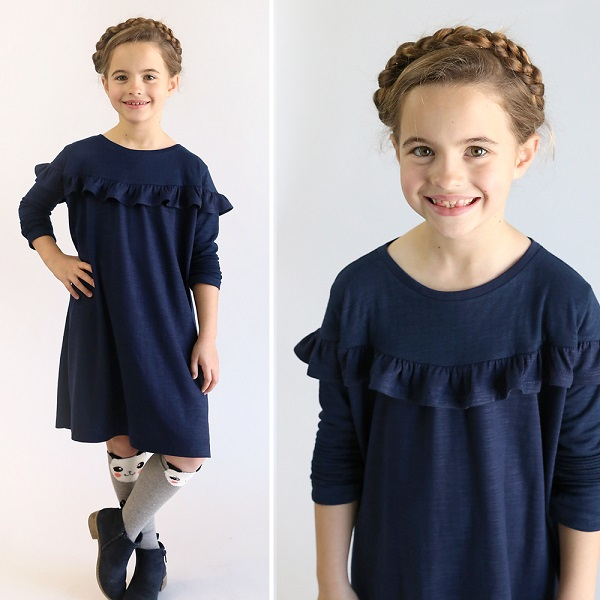 Free pattern: Girls ruffle top or dress